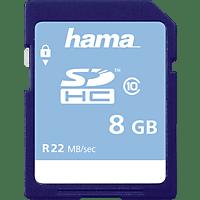 HAMA 104366, SDHC Speicherkarte, 8 GB, 22 MB/s