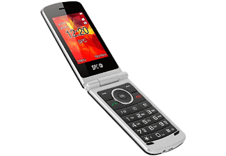 Móvil - SPC Opal, Para 500 contactos, Con tapa, Bluetooth, Cámara, Radio FM, Dual SIM, Negro