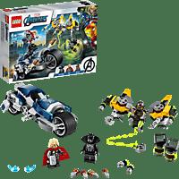 LEGO Avengers Speeder-Bike Attacke Bauspielzeug, Mehrfarbig