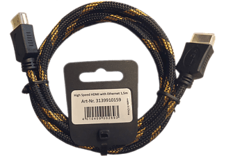 EAGLE CABLE High Speed - Cavo HDMI (Nero/Oro)