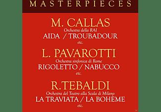 Luciano Pavarotti, Maria Callas, Renata Tebaldi - Masterpieces with Pavarotti,Callas & Tebaldi  - (CD)