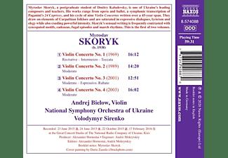 Andrej Bielow, Nso Of Ukraine - VIOLIN CONCERTOS, VOL. 1  - (CD)