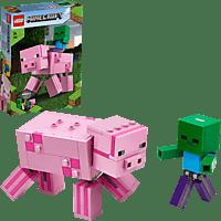 LEGO BigFig Schwein mit Zombiebaby Spielset, Mehrfarbig
