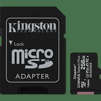 KINGSTON SDCS2, Micro-SD, SD Speicherkarte, 256 GB, 100 MB/s