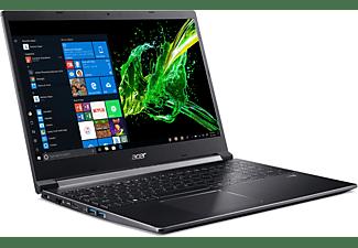 ACER Aspire 7 (A715-74G-71CP), Gaming Notebook mit 15,6 Zoll Display, Core™ i7 Prozessor, 8 GB RAM, 512 GB SSD, GeForce® GTX 1050, Schwarz