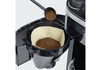 SEVERIN KA 4813 Kaffeemaschine Edelstahl gebürstet/Schwarz