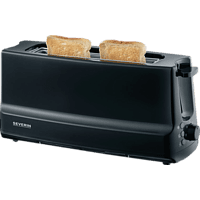 SEVERIN AT 2233 Toaster Matt Schwarz (800 Watt, Schlitze: 2)