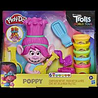 PLAY-DOH Trolls World Tour Frisierspaß Poppy Spielset, Mehrfarbig