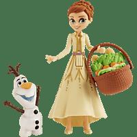HASBRO Disney Die Eiskönigin kleine Anna Puppe mit Olaf und Korb Spielfigur Mehrfarbig