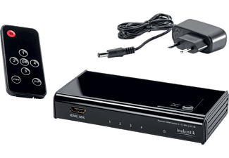 INAKUSTIK Premium HDMI Switch High Speed 4K, 4 x HDMI - 1 x HDMI (0042450413)