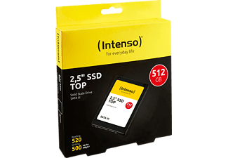 INTENSO Top Performance Festplatte, 512 GB SSD SATA 6 Gbps, 2,5 Zoll, intern