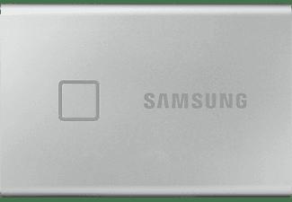 SAMSUNG Portable SSD T7 Touch Festplatte, 1 TB SSD, extern, Silber