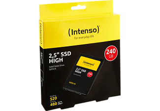 INTENSO High Performance Festplatte, 240 GB SSD SATA 6 Gbps, 2,5 Zoll, intern