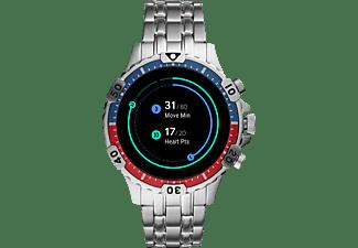 FOSSIL Garrett HR Smartwatch Edelstahl Edelstahl, 200 +/- 5 mm, Silber