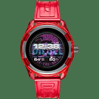 DIESEL Fadelite Smartwatch Aluminium/Nylon Silikon, 190 +/- 5 mm, Rot/Smoke