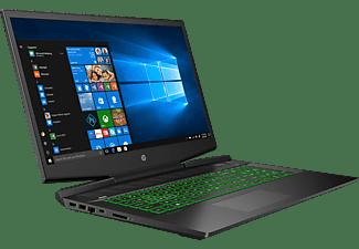 HP Pavilion 17-cd0231ng, Gaming Notebook mit 17,3 Zoll Display, Intel® Core™ i7 Prozessor, 16 GB RAM, 1 TB SSD, GeForce GTX 1660 Ti Max-Q, Schwarz/Chrom/Grün