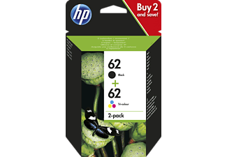 HP 62 Tintenpatrone Schwarz/Cyan/Magenta/Gelb (N9J71AE)