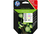 Cartucho de tinta - HP 950XL/951XL Combo 4 Pack, Negro, Cian, Magenta, Amarillo, C2P43AE