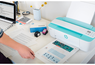 HP Multifunktionsdrucker DeskJet 3764 mit 4 Monate Instant Ink, weiß/rot (T8X27B)