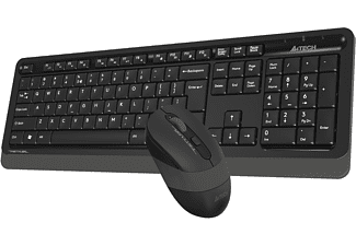 A4 TECH FG1010 2.4G Kablosuz Q Klavye ve Mouse Set Gri