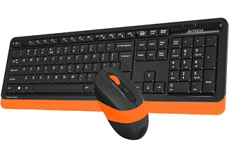 A4 TECH FG1010 2.4G Kablosuz Q Klavye ve Mouse Set Turuncu