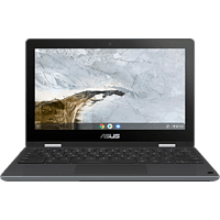 ASUS Chromebook Flip C214MA (C214MA-BU0128), Notebook mit 11.6 Zoll Display, Celeron® Prozessor, 4 GB RAM, 32 GB eMMC, Intel UHD Grafik 600, Dark Grey