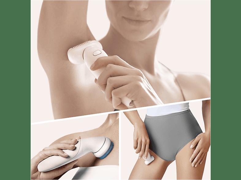 epilier-epiliergerät-glatte-beine-frau-braun-silk-epil-beweglicher-kopf-körper