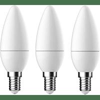 OK. LED-Lampe, E14 Warmweiß frosted, 5.8 Watt, 470 Lumen, 3er Pack