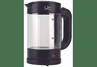 Hervidor de agua - Jata HA702, 1.2L, 1500 W, Cristal, Libre de BPA, Base con giro de 360º, Recogecables, Negro