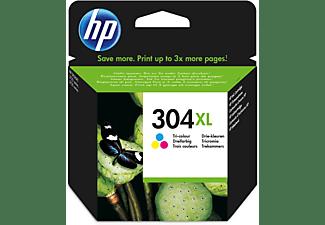 Cartucho de tinta - HP 304XL, Tricolor, N9K07AE