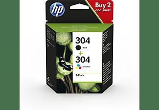 HP Tintenpatronen 2er Pack 304, schwarz/farbig (3JB05AE)