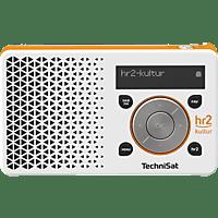TECHNISAT DIGITRADIO 1 HR2 EDITION Radio, DAB+, FM, BluetoothNein, Weiß/Orange