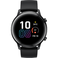 HONOR Magic Watch 2 Smartwatch Edelstahl Fluoroelastomer, 130-200 mm, Agate Black
