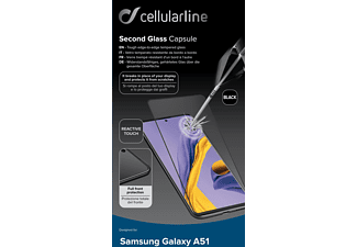 CELLULAR LINE Second Glass Capsule - Schutzglass (Passend für Modell: Samsung Galaxy A51)