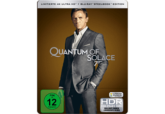 James Bond 007: Ein Quantum Trost Limitiertes 4K Steelbook - (4K Ultra HD Blu-ray + Blu-ray)