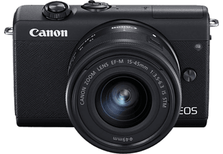CANON EOS M200 + EF-M 15-45 mm f/3.5-6.3 IS STM kit, fekete (3699C010)
