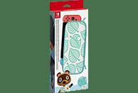 NINTENDO Switch-Tasche (Animal Crossing: New Horizons-Edition) & -Schutzfolie Zubehörset, Mehrfarbig