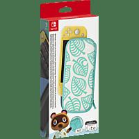 NINTENDO Switch Lite-Tasche (Animal Crossing: New Horizons-Edition) & -Schutzfolie Zubehörset, Pastell-Blau/Weiß/Pastell-Grün