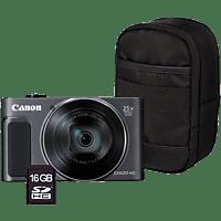 CANON Digitalkamera PowerShot SX620 Schwarz HS Essentials Kit (1072C020AA)