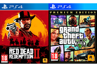 Rockstar Games Bundle - Red Dead Redemption 2 + Grand Theft Auto V Premium Edition für PlayStation 4