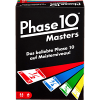 MATTEL Phase 10 Masters Kartenspiel, Mehrfarbig