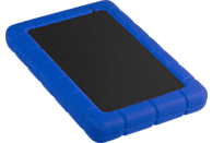 PROWORX Festplattengehäuse RubberyDrive, 2.5 Zoll, SATA, USB3.0, Schwarz/blau (MD000031)