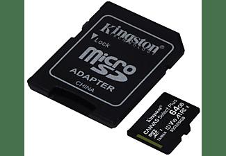 Tarjeta Micro SD - Kingston SDCS2/64GB, 64 GB, Velocidad hasta 100 MB/s, Clase 10, Adaptador SD, Negro