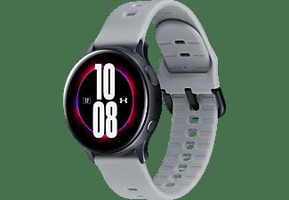 SAMSUNG Galaxy Watch Active2 40 mm Under Amour Edition Smartwatch Aluminium Fluorkautschuk, S/M, Mod Gray