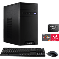 HYRICAN MULTIMEDIA PC642B, Gaming PC, Ryzen 5 Prozessor, 16 GB RAM, 1 TB SSD, Radeon RX Vega 11, Schwarz