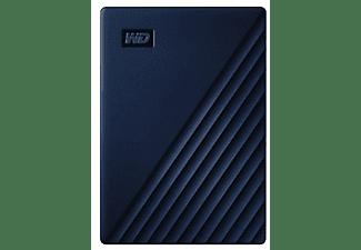 Disco duro externo 4 TB - WD My Passport para Mac, Portátil, USB-C y USB-A, Time Machine, Con Contraseña, Azul