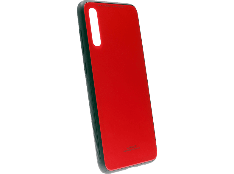 AGM 29869 , Backcover, Samsung, Galaxy A70, Gehärtetes Glas, Thermoplastisches Polyurethan, Rot