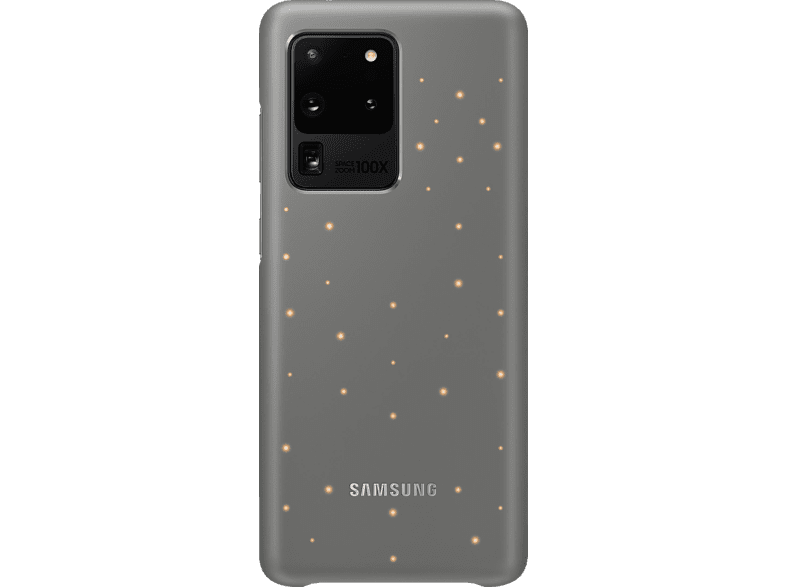 SAMSUNG LED Cover , Backcover, Samsung, Galaxy S20 Ultra, Kunststoff, Grau