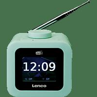 LENCO CR-620 Radiowecker, DAB+, Grün