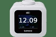 LENCO CR-620 Radiowecker, DAB+, Weiss